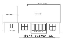 Dream House Plan - Ranch Exterior - Rear Elevation Plan #20-2302