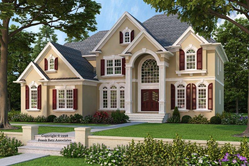 Home Plan - European Exterior - Front Elevation Plan #927-24