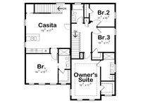 Traditional Floor Plan - Upper Floor Plan Plan #20-2327
