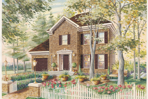 Colonial Exterior - Front Elevation Plan #25-4785
