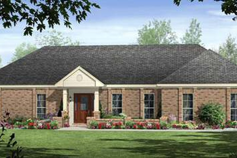 Ranch Exterior - Front Elevation Plan #21-235