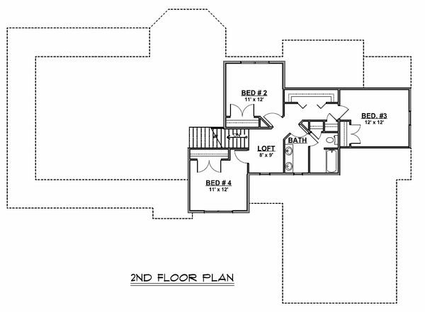 Dream House Plan - Cottage Floor Plan - Upper Floor Plan #1064-67