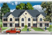 European Style House Plan - 2 Beds 2.5 Baths 6780 Sq/Ft Plan #26-210 Exterior - Front Elevation