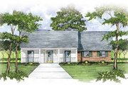 Ranch Style House Plan - 3 Beds 2 Baths 1573 Sq/Ft Plan #36-133 Exterior - Front Elevation