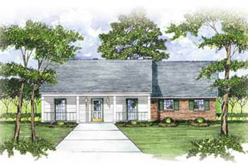 Ranch Exterior - Front Elevation Plan #36-133 - Houseplans.com