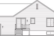 Country Style House Plan - 2 Beds 1 Baths 1023 Sq/Ft Plan #23-2382 Exterior - Rear Elevation