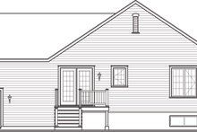House Plan Design - Country Exterior - Rear Elevation Plan #23-2382