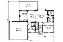 Farmhouse Floor Plan - Main Floor Plan Plan #46-886
