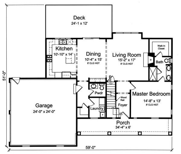 Farmhouse Floor Plan - Main Floor Plan #46-886