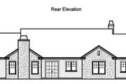 Traditional Style House Plan - 4 Beds 3.5 Baths 3481 Sq/Ft Plan #490-20 Exterior - Rear Elevation