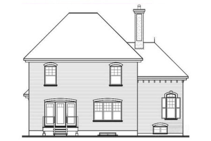 European Exterior - Rear Elevation Plan #23-2155 - Houseplans.com