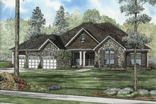Dream House Plan - Traditional Exterior - Front Elevation Plan #17-2616
