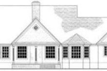 European Exterior - Rear Elevation Plan #406-209