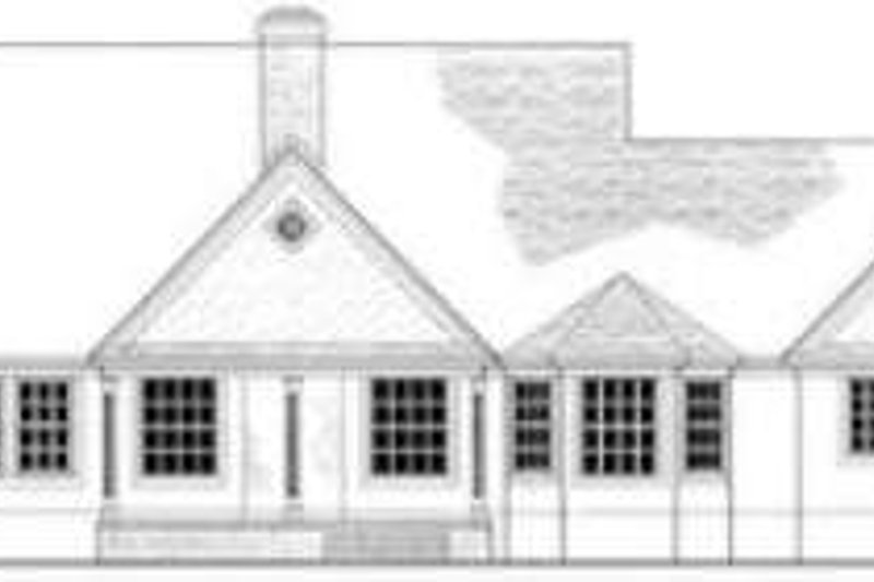 European Exterior - Rear Elevation Plan #406-209 - Houseplans.com