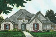 European Style House Plan - 3 Beds 3 Baths 2518 Sq/Ft Plan #310-1284 Exterior - Front Elevation