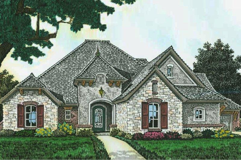 Architectural House Design - European Exterior - Front Elevation Plan #310-1284