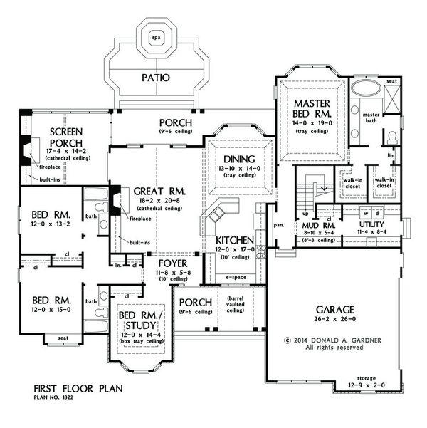 European Floor Plan - Main Floor Plan Plan #929-25