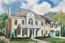 Home Plan Design - European Exterior - Front Elevation Plan #20-1193