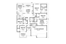 Craftsman Floor Plan - Main Floor Plan Plan #513-2168