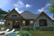 House Design - Craftsman Exterior - Rear Elevation Plan #120-172