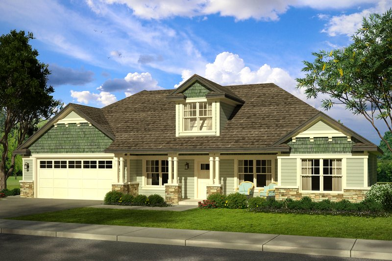 Country Style House Plan - 3 Beds 2 Baths 2151 Sq/Ft Plan #124-1015 Exterior - Front Elevation