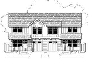 Craftsman Exterior - Front Elevation Plan #423-7