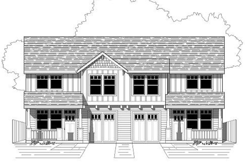 Craftsman Style House Plan - 3 Beds 2.5 Baths 2724 Sq/Ft Plan #423-7 Exterior - Front Elevation