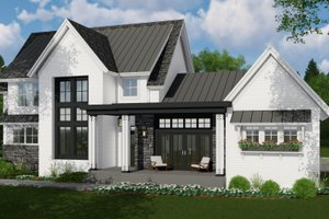 Architectural House Design - Farmhouse Exterior - Front Elevation Plan #51-1139