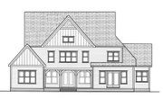 Craftsman Style House Plan - 4 Beds 4.5 Baths 3866 Sq/Ft Plan #413-856 Exterior - Rear Elevation