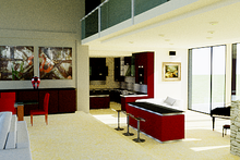 Modern Interior - Kitchen Plan #542-1