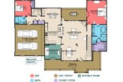 Country Style House Plan - 4 Beds 3 Baths 2551 Sq/Ft Plan #63-432 Floor Plan - Main Floor