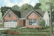 Traditional Style House Plan - 3 Beds 2 Baths 1250 Sq/Ft Plan #17-433 Exterior - Front Elevation