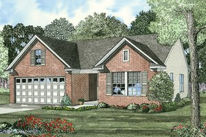 Traditional Exterior - Front Elevation Plan #17-433