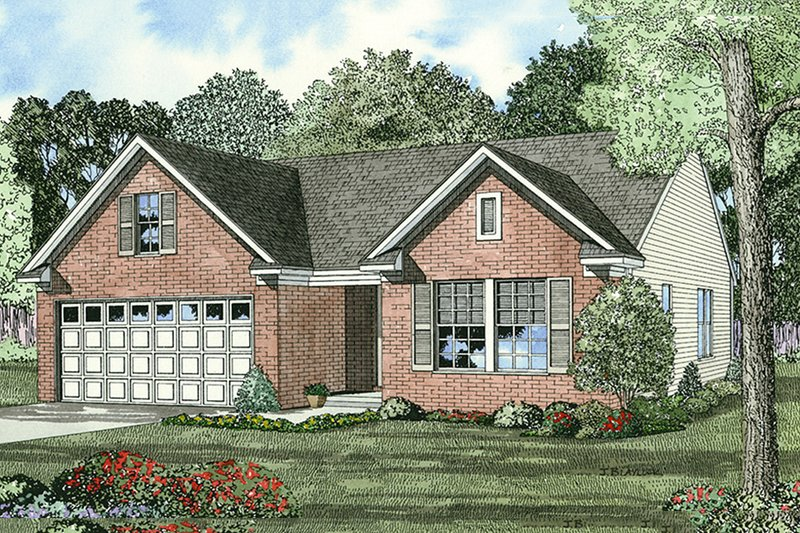 Home Plan - Traditional Exterior - Front Elevation Plan #17-433