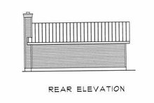 Cabin Exterior - Rear Elevation Plan #22-127
