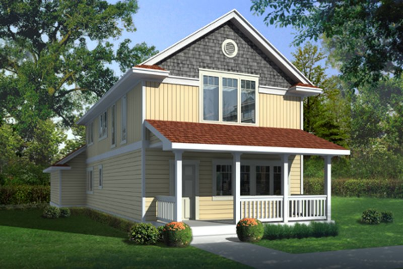 Farmhouse Exterior - Front Elevation Plan #95-220