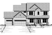 Colonial Style House Plan - 4 Beds 2.5 Baths 2764 Sq/Ft Plan #51-280 Exterior - Front Elevation
