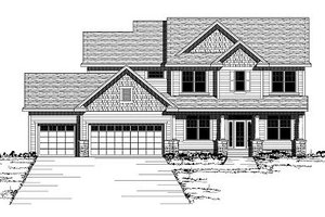 Colonial Exterior - Front Elevation Plan #51-280
