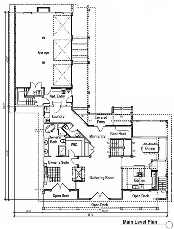 Craftsman Floor Plan - Main Floor Plan Plan #451-14