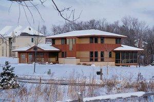 Prairie Exterior - Front Elevation Plan #454-4