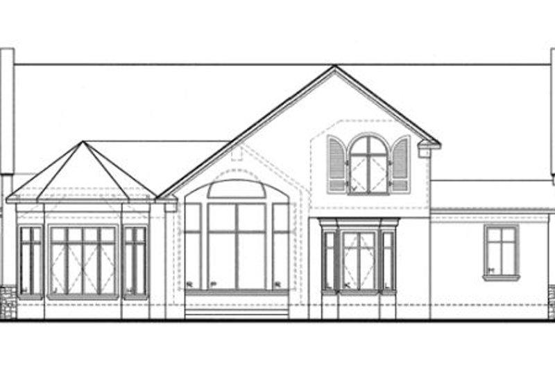 European Exterior - Rear Elevation Plan #20-961 - Houseplans.com