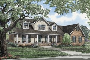 Traditional Exterior - Front Elevation Plan #17-254