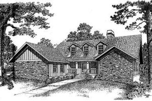 Traditional Exterior - Front Elevation Plan #322-109
