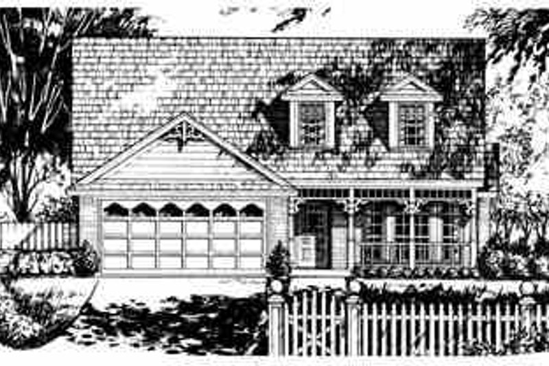Traditional Exterior - Front Elevation Plan #40-246 - Houseplans.com