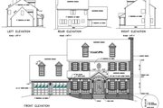 Colonial Style House Plan - 4 Beds 2.5 Baths 1998 Sq/Ft Plan #56-146 Exterior - Rear Elevation