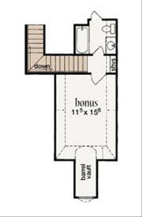 European Floor Plan - Upper Floor Plan Plan #36-464