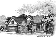 Traditional Style House Plan - 3 Beds 2 Baths 1795 Sq/Ft Plan #50-182 Exterior - Other Elevation
