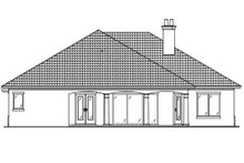 Country Exterior - Rear Elevation Plan #938-48