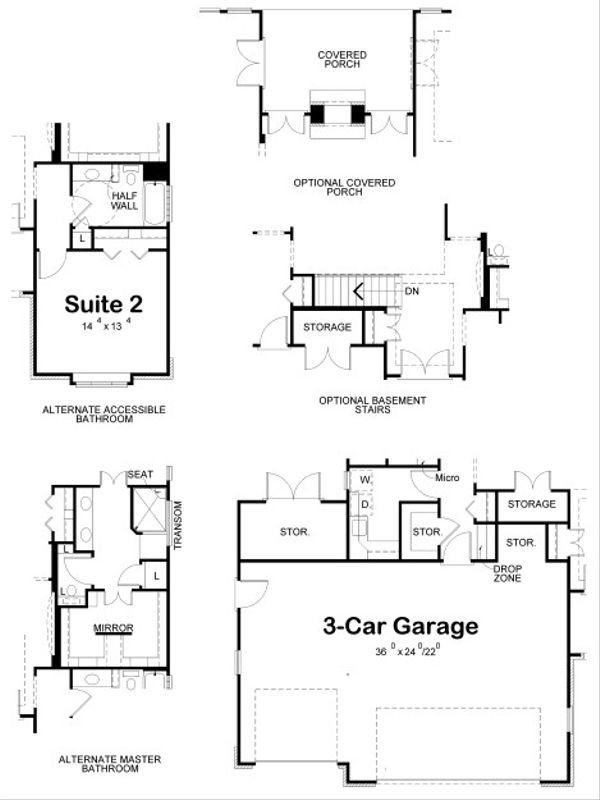 House Plan Design - European Floor Plan - Other Floor Plan #20-2069
