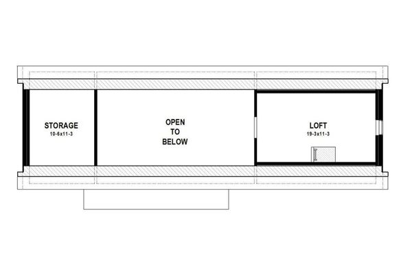 Modern Floor Plan - Upper Floor Plan Plan #497-33
